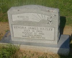 Lenora <i>James</i> Hazley