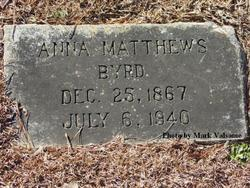 Anna <i>Matthews</i> Byrd