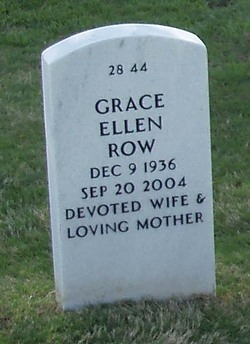 Grace Ellen <i>Burris</i> Row