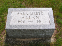 Sara <i>Mertz</i> Allen
