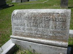 Elizabeth Judd <i>Hutchinson</i> Legge