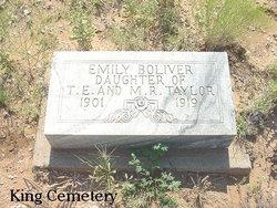 Mary Emily <i>Taylor</i> Boliver