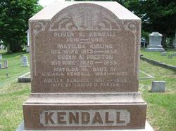 Susan A <i>Preston</i> Kendall