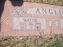 Mattie Elizabeth <i>Gibson</i> Anglin