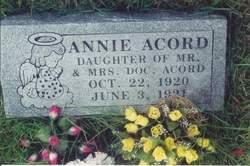 Annie Acord