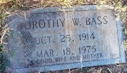 Dorothy <i>Winstead</i> Bass