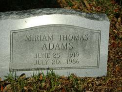 Miriam <i>Thomas</i> Adams