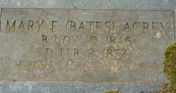 Mary Elizabeth <i>Bates</i> Acrey
