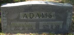 Calvin F Adams