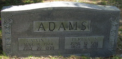 Bertha S Adams
