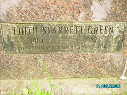 Edith Louise <i>Starrett</i> Green