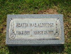 Reatta Mae <i>Bell</i> Aldridge