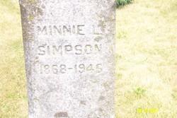 Minnie Luretta <i>Traphagan</i> Simpson