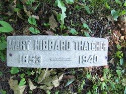 Mary <i>Hibbard</i> Thatcher