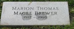 Marion Thomas <i>Magee</i> Brewer