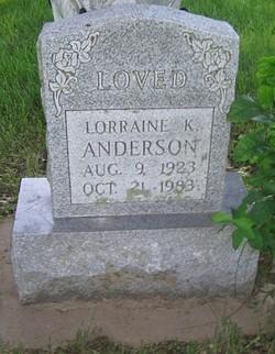 Lorraine K. <i>Elward</i> Anderson