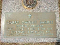 Corp Garry Dwight Barbee