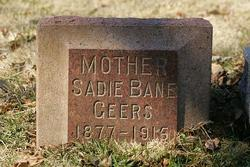 Sadie E <i>Webb</i> Geers