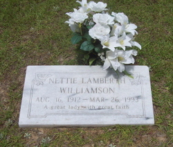 Nettie <i>Lamberth</i> Williamson