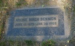 Archie Birch Bennion