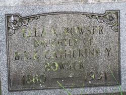 Ella K Bowser