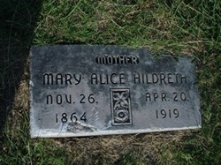 Mary Alice <i>Lampkin</i> Hildreth