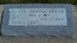 Sarah Jane <i>Humble</i> Butler