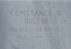 Constance W Bigsby