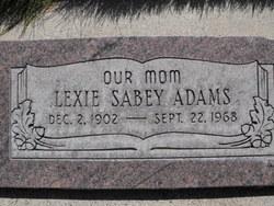 Lexie Rose <i>Sabey</i> Adams