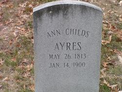 Ann <i>Childs</i> Ayres