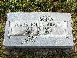 Cora Alice Allie <i>Ford</i> Brent