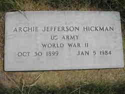 Archie Jefferson Hickman