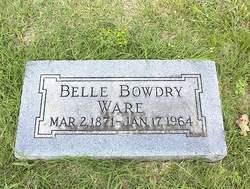 Mrs Belle <i>Bowdry</i> Ware