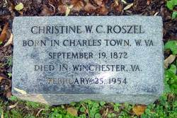 Christine W <i>Chew</i> Roszel