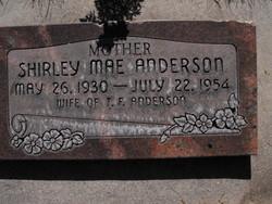 Shirley Mae <i>Olsen</i> Anderson