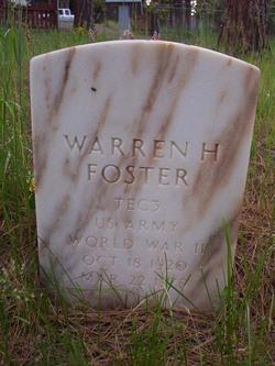 Warren H Foster