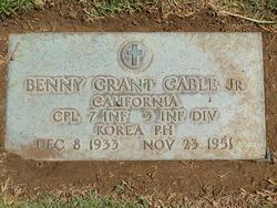 Corp Benny Grant Gable, Jr
