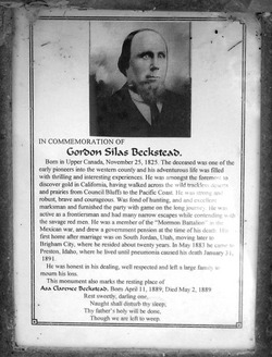 Pvt Gordon Silas Beckstead