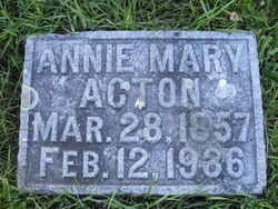 Annie Mary <i>Manners</i> Acton