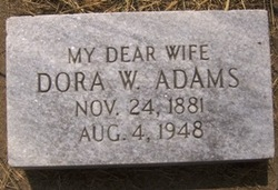 Dora <i>Woods</i> Adams