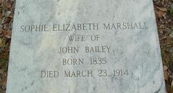 Sophie Elizabeth <i>Marshall</i> Bailey