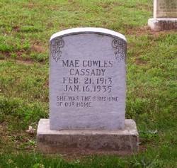 Mae Cowles <i>Cowles</i> Cassady