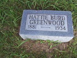 Hattie Elizabeth <i>Burd</i> Greenwood