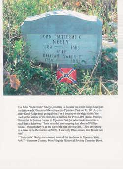 John W, Buttermilk Neely