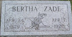 Bertha Paulina <i>Jones</i> Zade