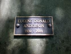 Eugene Donald Anderson