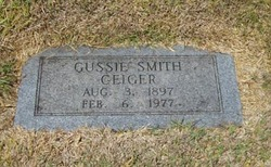 Mary Augusta Gussie <i>Smith</i> Geiger