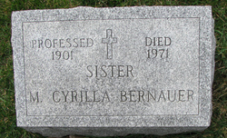 Christina Sister Mary Cyrilla Bernauer