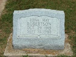 Zona May <i>Cook</i> Robertson