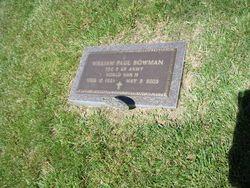 William Paul Bill Bowman